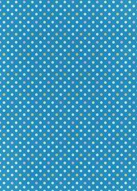 青ベースのドット柄A4サイズ背景素材