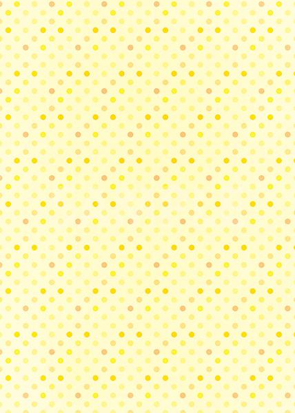 黄色ベースのドット柄A4サイズ背景素材
