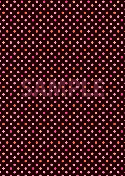 黒色ベースのピンクドット柄A4サイズ背景素材