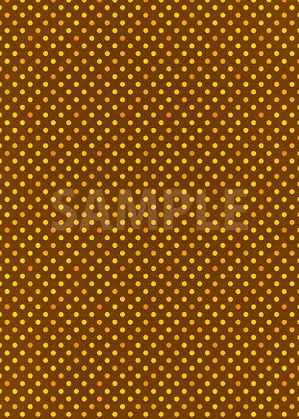 茶色ベースのピンクドット柄A4サイズ背景素材