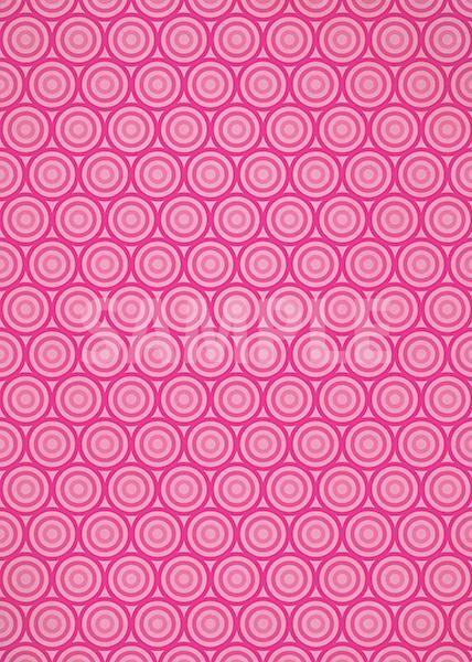 ピンク色のサークル柄A4サイズ背景素材