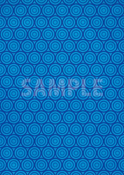 青いサークル柄A4サイズ背景素材
