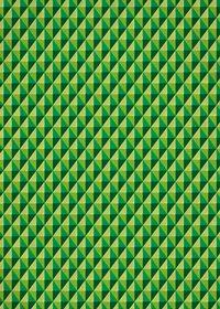緑色の三角が並び立体的に見えるA4サイズ背景素材