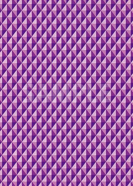 紫色の三角が並び立体的に見えるA4サイズ背景素材