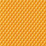 オレンジ色の三角が並び立体的に見えるA4サイズ背景素材