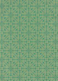 緑色のエスニック調A4サイズ背景素材