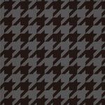 黒色のハウンドトゥース柄のA4サイズ背景素材