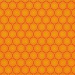 オレンジ色のサークル柄A4サイズ背景素材