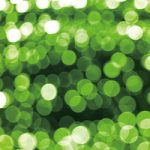 緑色にボヤケて光るA4サイズ背景素材データ