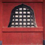和風の飾り壁のA4サイズ背景素材データ