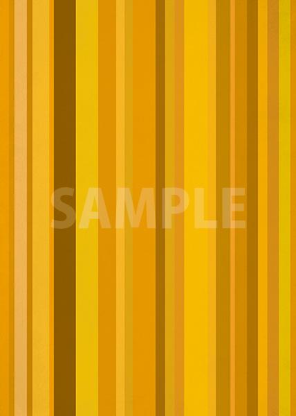 オレンジ系のマルチストライプ柄A4サイズ背景素材データ