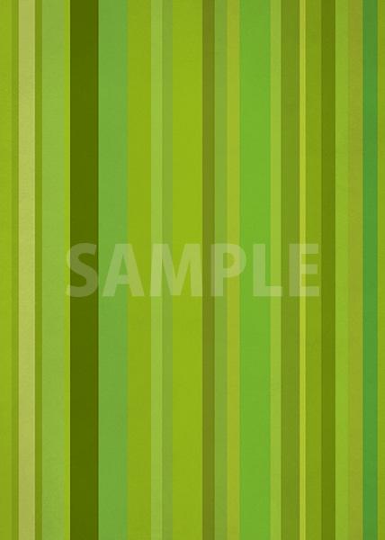 緑系のマルチストライプ柄A4サイズ背景素材データ