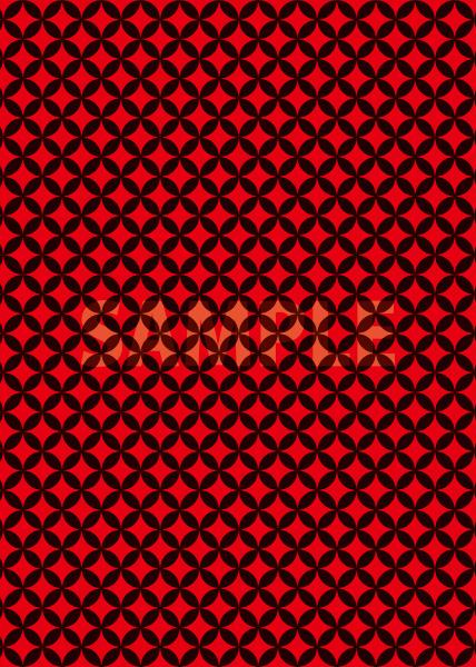 黒と赤の七宝柄A4サイズ背景素材データ