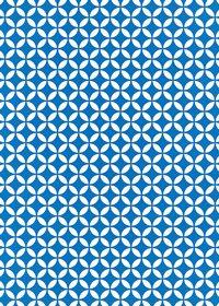 青と白の七宝柄A4サイズ背景素材データ
