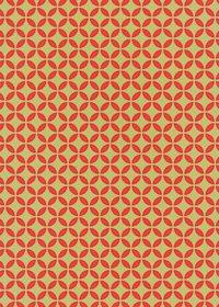 緑とオレンジ色の七宝柄A4サイズ背景素材データ