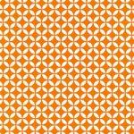 白とオレンジ色の七宝柄A4サイズ背景素材データ