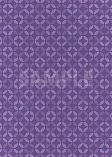 紫色の七宝柄A4サイズ背景素材データ