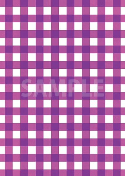 紫色のギンガムチェック柄A4サイズ背景素材