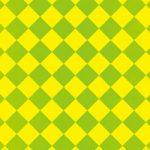黄色と緑色のハーリキンチェック柄A4サイズ背景素材