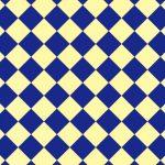 青色と薄い黄色のハーリキンチェック柄A4サイズ背景素材