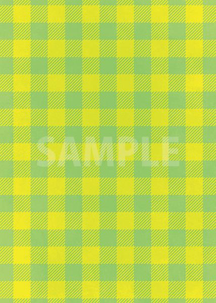 緑色と黄色のシェパードチェック柄A4サイズ背景素材