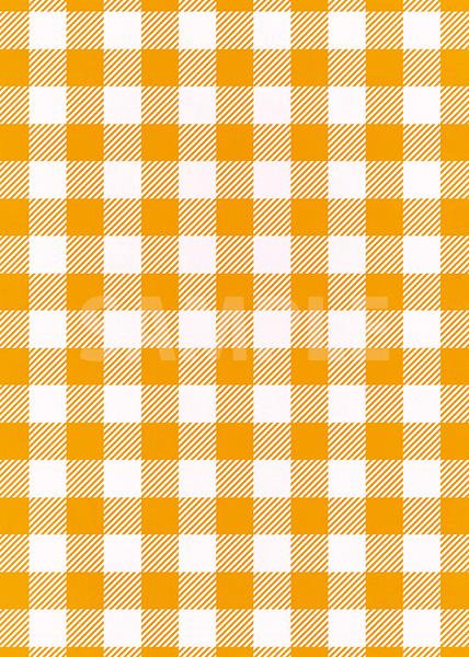 オレンジ色と白のシェパードチェック柄A4サイズ背景素材