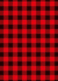 赤と黒のシェパードチェック柄A4サイズ背景素材