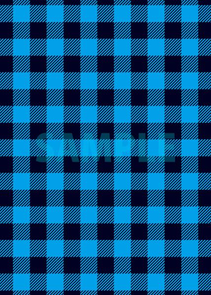 青と黒のシェパードチェック柄A4サイズ背景素材
