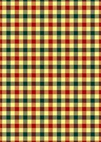 赤・緑・黄色のガンクラブチェック柄A4サイズ背景素材