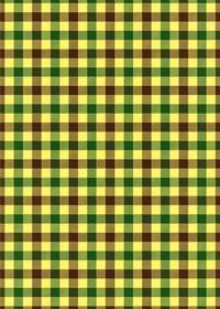 茶・緑・黄色のガンクラブチェック柄A4サイズ背景素材