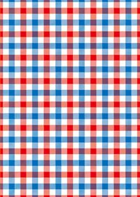 赤・青・白色のガンクラブチェック柄A4サイズ背景素材