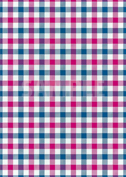 ピンクと青のガンクラブチェック柄A4サイズ背景素材