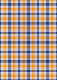 オレンジと青のガンクラブチェック柄A4サイズ背景素材
