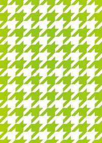 緑と白のハウンドトゥース柄A4サイズ背景素材