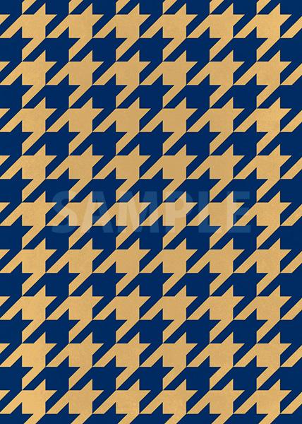 紺とベージュのハウンドトゥース柄A4サイズ背景素材