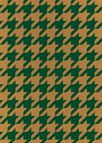 緑と茶色のハウンドトゥース柄A4サイズ背景素材