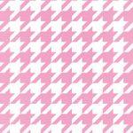 ピンクと白のハウンドトゥース柄A4サイズ背景素材