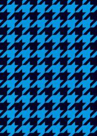 青と黒のハウンドトゥース柄A4サイズ背景素材