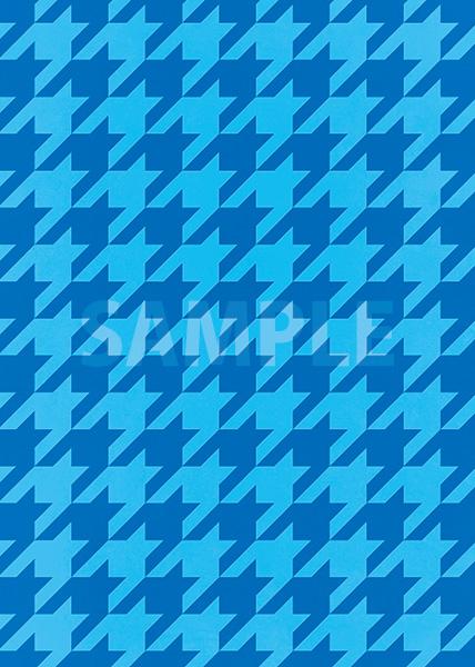 青色のハウンドトゥース柄A4サイズ背景素材
