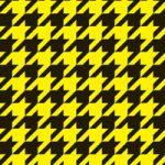 黒と黄色のハウンドトゥース柄A4サイズ背景素材