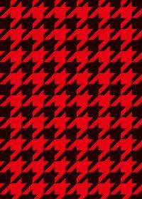 黒と赤のハウンドトゥース柄A4サイズ背景素材