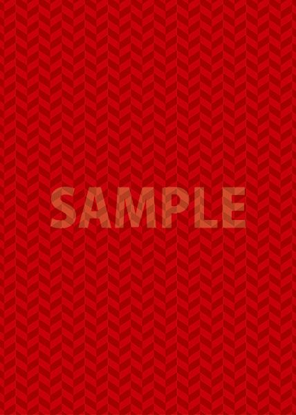 赤色のヘリンボーン柄A4サイズ背景素材
