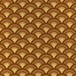 茶色の青海波柄A4サイズ背景素材