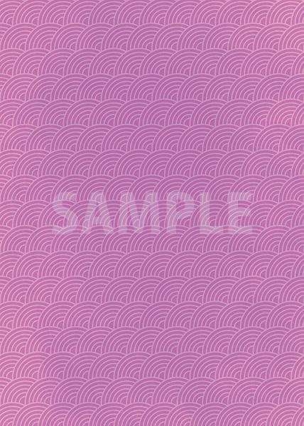 斜めに傾いた紫色の青海波柄A4サイズ背景素材