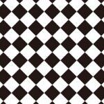 白黒色のハーリキンチェック柄A4サイズ背景素材