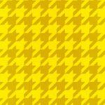 黄色のハウンドトゥース柄A4サイズ背景素材