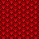 赤色の青海波柄A4サイズ背景素材
