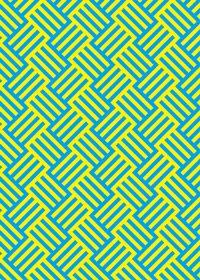 黄色と青色のバスケット柄A4サイズ背景素材
