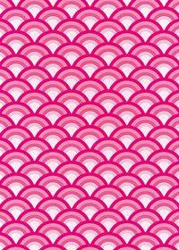ピンク色の青海波柄A4サイズ背景素材