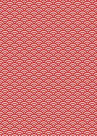 赤と白の青海波柄A4サイズ背景素材